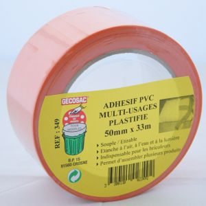 Adhésif Orange Multi-usages PVC plastifié 48 mm x 33 m