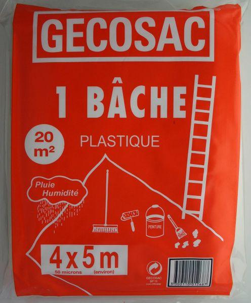 Bache De Protection Polyethylene 4 X 5 Metres 50 Microns Epais